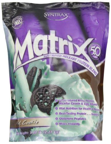 (Syntrax Matrix 5, Mint Cookie Powder, 5lbs)