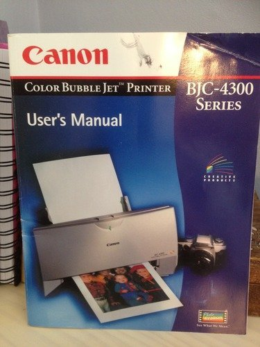 Canon Color Bubble Jet Printer User's Manual -- BJC-4300 Series