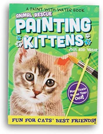 Kappa Books Publishers, LLC Painting Kittens Paint-with-Water Book with Paintbrush