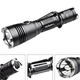 Tactical-Police-Flashlight-ORCATORCH-T20-980-LM-Nightlight-Flashlight-Police-linterna-Include-18650-Rechargeable-Battery-And-Charger