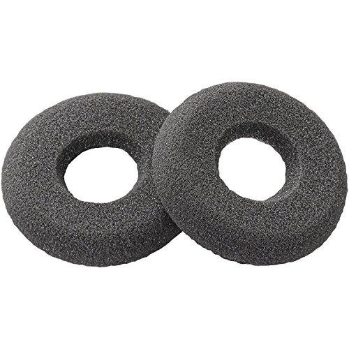 Foam Ear Cushion Doughnut, Spare for Plantronics SupraPlus | GN Netcom|Jabra | Smith Corona Ultra | VXI | Starkey Headsets - Universal - 1 Pair ()