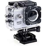 HD 1080P MJPEG 2 inch LCD IP68 30m Waterproof Sports Action Camera DVR (White)