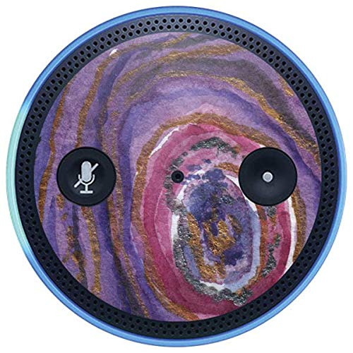 Skinit Geode Amazon Echo Plus Skin - Lilac Watercolor Geode Design - Ultra Thin, Lightweight Vinyl Decal Protection