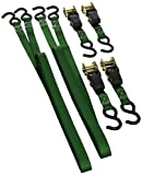 SmartStraps 14-Foot Padded Ratchet Tie Down (4pk) 1,500 lbs Break Strength - 500 lbs Safe Work Load – Haul Lighter Loads in Your Pickup – Secure Dirt Bikes, ATVs, Mowers and More