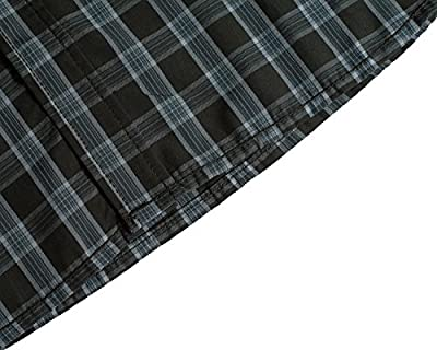 Trensom Men's Casual Cotton Collared Checked Long Sleeve Plaid Button Down Dress Shirt