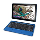 2018 RCA Viking Pro 2-in-1 10.1'' Touchscreen High Performance Tablet Laptop PC, Intel Quad-Core Processor, 1G RAM, 32GB HDD, Detachable Keyboard, Webcam, Android 5.0 Lollipop, Blue