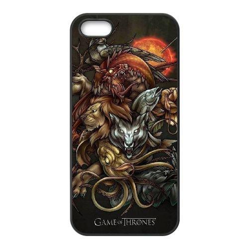 C5S84 Game of Thrones Logo T7O5QP coque iPhone 4 4s cellulaire cas de téléphone de couverture coque WW7GHV1TS noirs