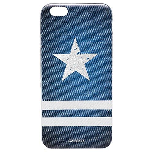 """caseez """"Denim Star"""" Rückseite Schutzhülle für Apple iPhone 6/6S–Blau"""