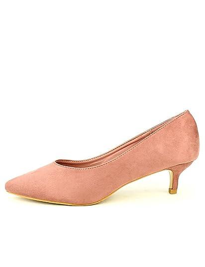 meilleur service f0667 897d6 Cendriyon, Escarpin Rose Poudré BALANTIM Chaussures Femme ...