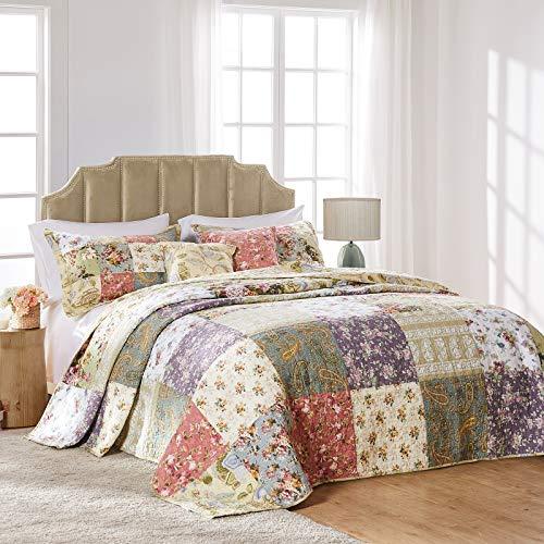 Greenland Home Blooming Prairie Full 3 Piece Bedspread Set
