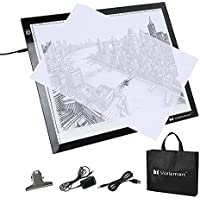 Voilamart A3 8mm Thin LED Tracing Board Light Box Light Pad Illumination Light Panel, Dimmable Brightness, Active Area 17x13, Paper Clip USB Cable, For Art Craft Drawing Stencil Sketching Animation