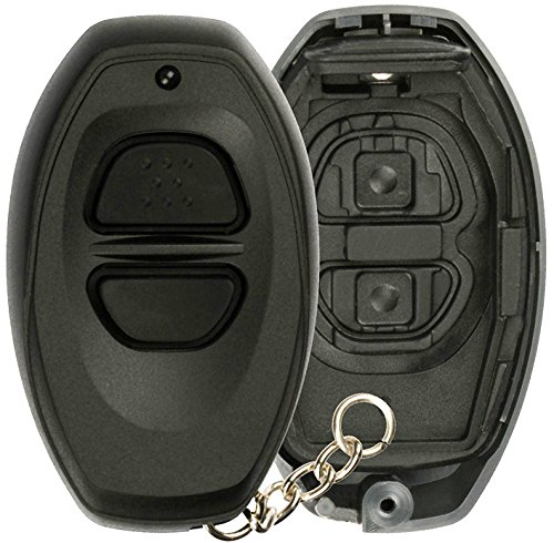 (KeylessOption Keyless Entry Remote Control Black Car Key Fob Shell Case Cover Button Pad for Toyota Dealer Installed Alarm System BAB237131-022)