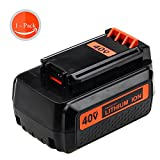 40V 2.5Ah Replacement Black and Decker Battery for LBX2040 LBX36...