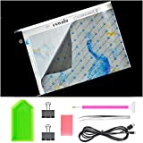 (US) Eswala LED Diamond Painting Light Pad Board Box A4 Tablet Art Embroidery Stencil Drawing Cross Stitch tool Kits with Gift