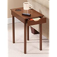 Walnut Tone Home Theater End Table
