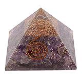 Aatm Healing Gemstone Amethyst Orgone Pyramid Stone Peace Gift