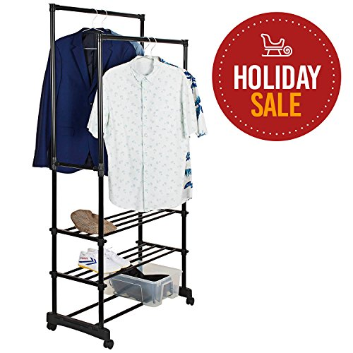 garment rack with shelf - 8