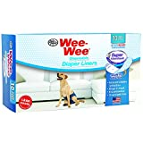 Four Paws 100523615 Wee-Wee Products Disposable Dog Diaper Super Absorbent Liners (10 Pack), 2.75-Inch X 8.25-Inch X 4.5-Inch