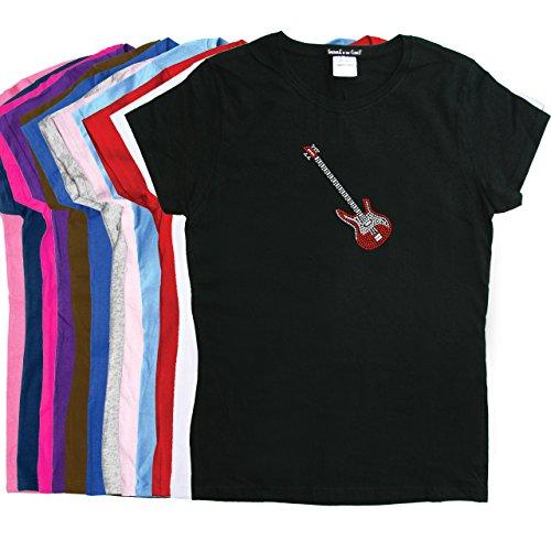 Guitar (Red Swarovski)- Rhinestone Women's T-Shirt