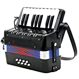 Kids Accordion - TOOGOO(R)17-Key 8 Bass Mini Accordion Musical Toy for Kids