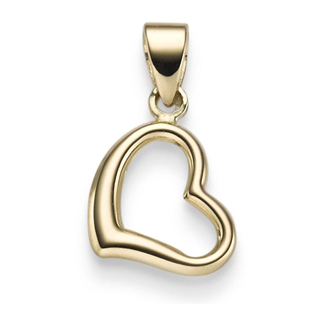 Colgante Einhauml;nger Collar Joyas Corazón 11 mm de 585 oro amarillo brillante