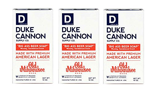Duke Cannon Big Ass Beer Soap for Men, 10 Ounce 3 Pack