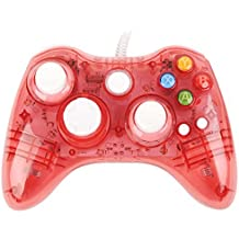 USB Wired Afterglow Red Controller Gamepad Game Pad Joypad For xBox360 & PC