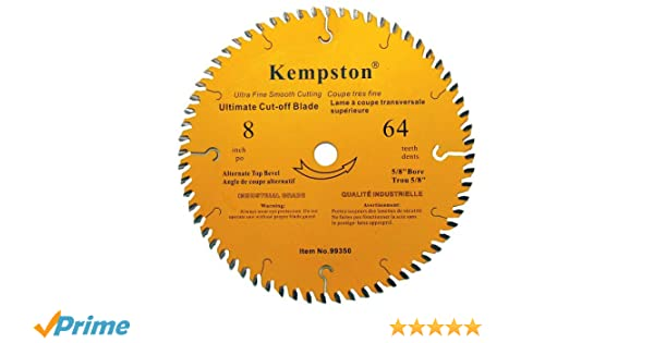 5//8-Inch Arbor Kempston 99310 8-Inch by 24 Tooth Industrial Thick Rip Blade