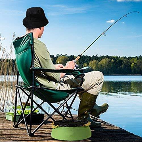 Spiaggia Sole Creativo Festival Invernale Pesca un brand Cappello da Pescatore in Cotone per Adulti Nero
