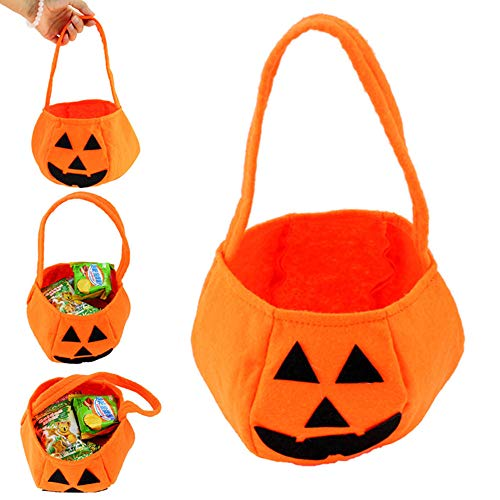 1PC Halloween Pumpkin Trick or Treat Candy Bags House Decoration for Boys and Girls Halloween Party -