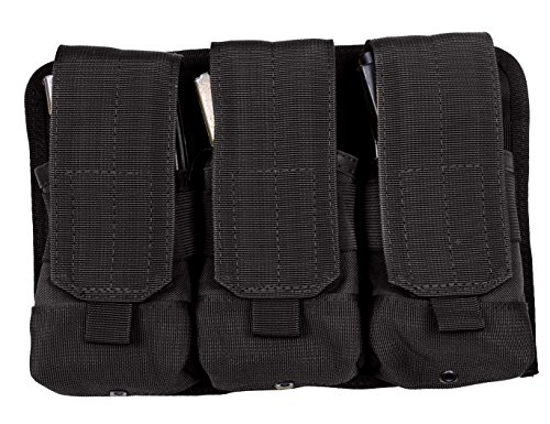 Rothco Universal Triple Mag Rifle Pouch, Black ()