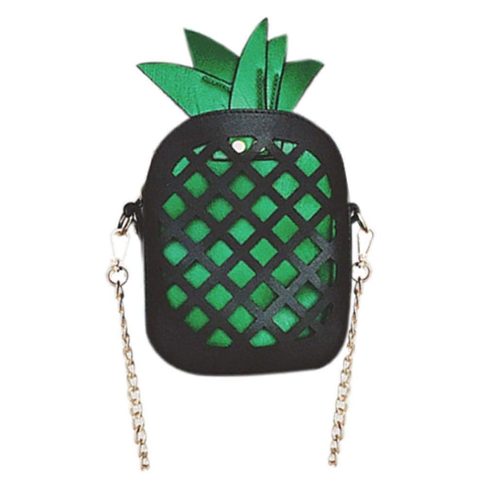 LHKFNU New Personalized Pineapple Bag Contrast Color Chain Shoulder Messenger Bag Mini Creative Girls Gift