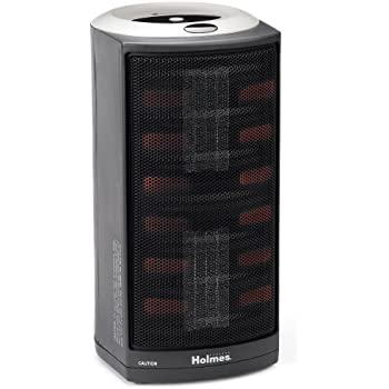 Holmes HCH4953-U Ultra-Quiet Dual Ceramic Heater with 1-Touch Electronic Thermostat