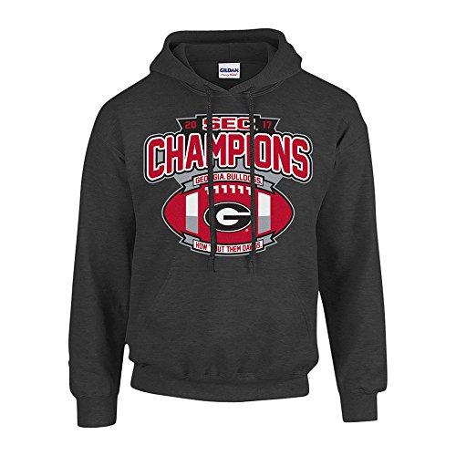 Champ Jersey Sweatshirt - Elite Fan Shop Georgia Bulldogs SEC Champs Hoodie Sweatshirt 2017 Charcoal Football - XL