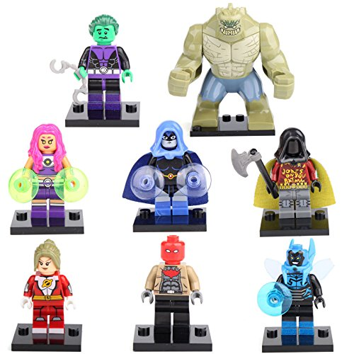 [Teen Titans Starfire Beast Boy Robin Raven 8 Mini figures Building Bricks LEGO] (Teen Titan Robin Costumes)
