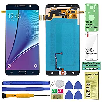 Image of Replacement Parts Display Touch Screen (AMOLED) Digitier Assembly with Home Button for Samsung Galaxy Note 5 All Models (Unlocked) N920 N920A N920T N920V N920P N920R4 N920F (for Repair Replacement) (Black Sapphire)