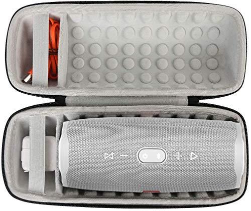 Khanka Hard Travel Case Replacement for JBL Charge 4 Portable Waterproof Wireless Bluetooth Speaker (Black)