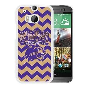NCAA Western Carolina Catamounts 03 White HTC ONE M8 Protective Phone Cover Case
