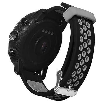 Zolimx Deporte Suave Silicona Correa de Reemplazo Pulsera Relojes Inteligente para Xiaomi Huami Amazfit Stratos 2/2S Fitness Smartband (Gris)