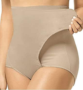 fae4a9776b6 Leonisa High-Waisted Tummy Compression Postpartum Girdle Panty with  Adjustable Belly Wrap for Women After