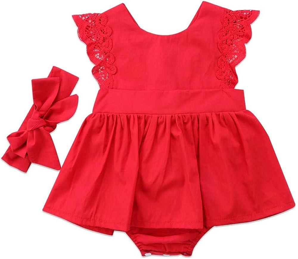Wang-RX Vestido de algodón con Estampado de Encaje Rojo de Navidad ...