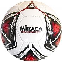 Mikasa El Dikişli Halı Saha Futbol Topu Regateador, Beyaz/Kırmızı, 5
