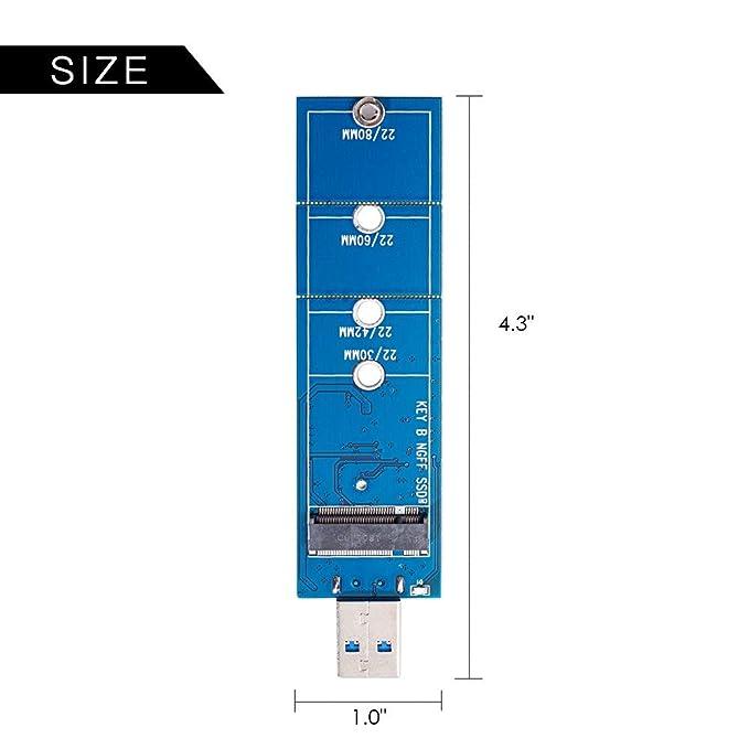 Amazon.com: mveohos M.2 SSD a USB 3.0 adaptador, NGFF SATA ...