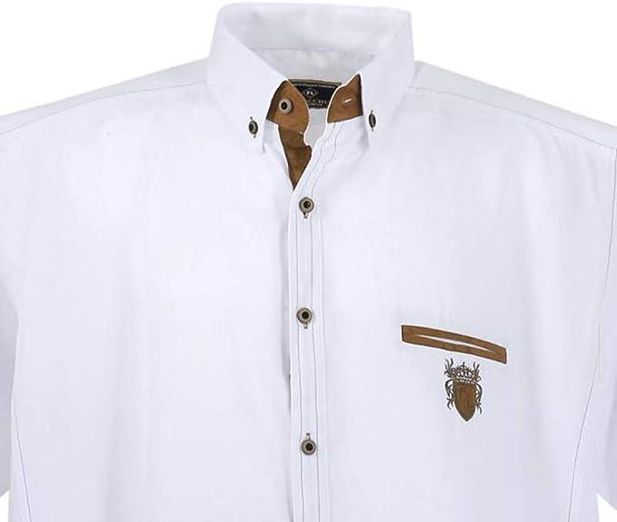 Lavecchia Sportivo da Uomo a Maniche Corte Camicia di Lave cchia in Taglia Grossa