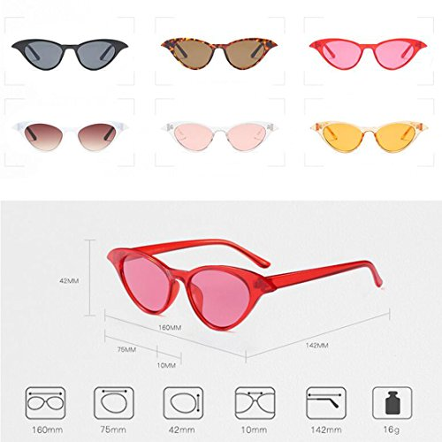 Vintage Ladies Sunglasses Cat de Eye Blanco Inlefen Eyewear Sexy Women Gafas sol Small Tóner wXIxz4