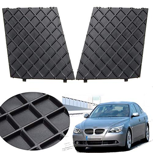 (Black Front Bumper Lower Mesh Grill Trim Cover Pair Left Right For BMW E60 E61 M Exterior Accessories Replacement Parts)
