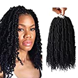 Crochet Spring Twist Hair Pretwisted 14 inch Bomb Twist Fluffy Spring Twist Crochet Hair Pre looped 4 packs Synthetic Hair Extension by Flyteng