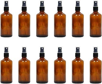 Vidrio Botella De Spray - 30-120ML Spray Vacioo Para La Loción De Aceite Esencial Del Perfume Jardín Cabello Limpio,12 pcs: Amazon.es: Belleza