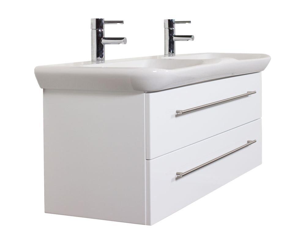 Emotion MYDAY130CM000101DE Waschbecken mit Unterschrank, Holz, weiß ...