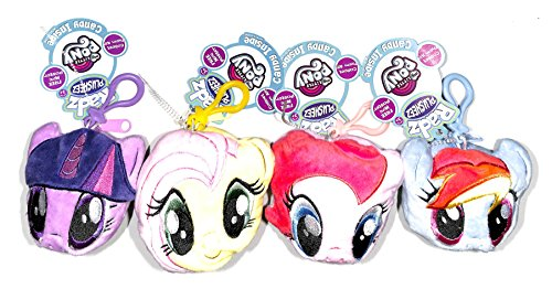 My Little Pony Radz Plush Candy Holder Keychain Pouch Set of 4